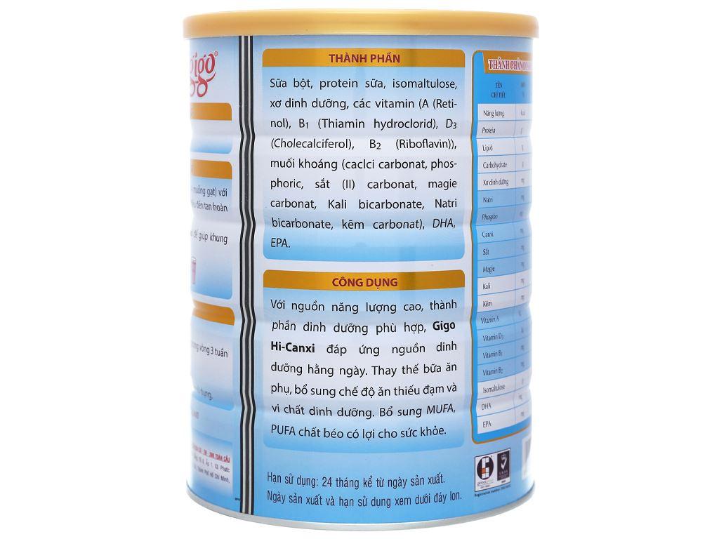 Sữa bột Gigo Hi - canxi lon 900g 4