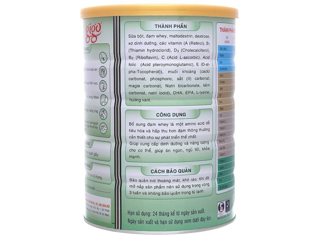 Sữa bột Gigo Gain Plus lon 900g 3