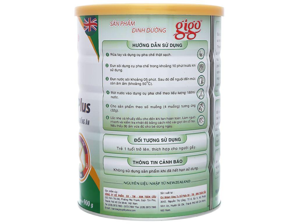 Sữa bột Gigo Gain Plus lon 900g 4