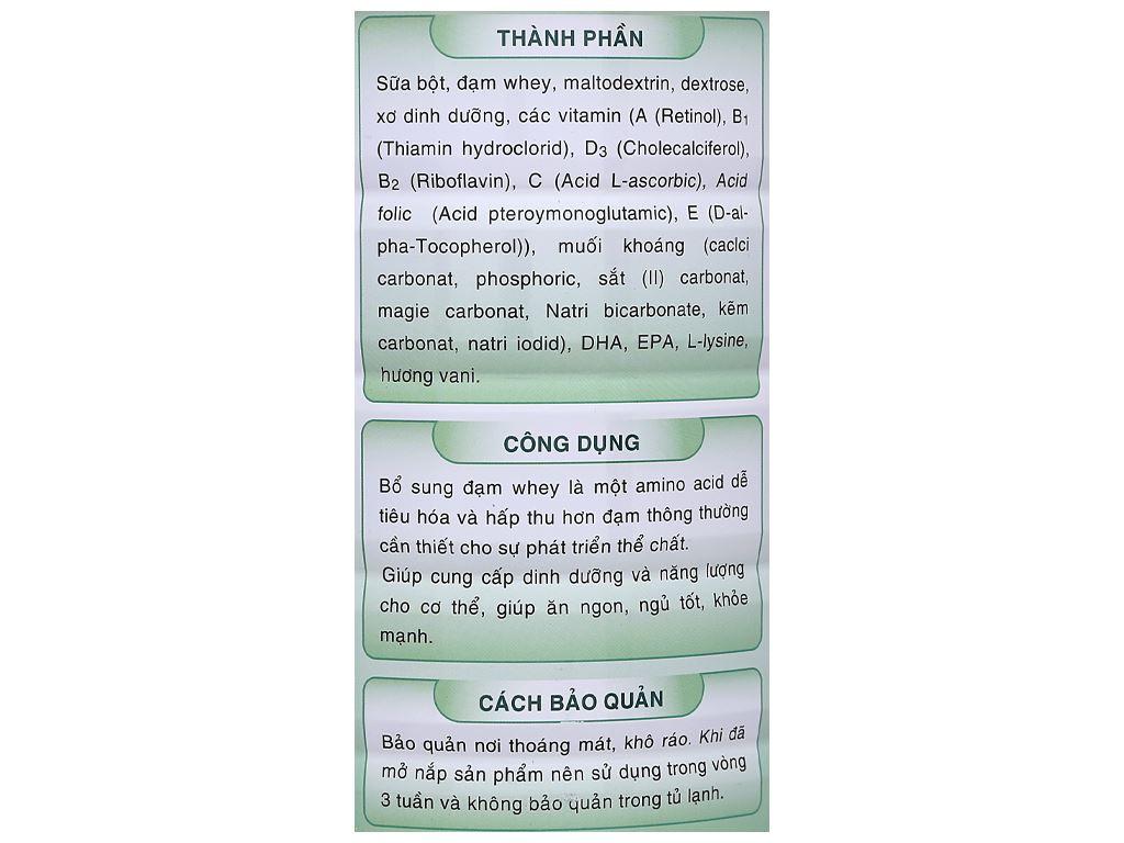 Sữa bột Gigo Gain Plus lon 900g 7