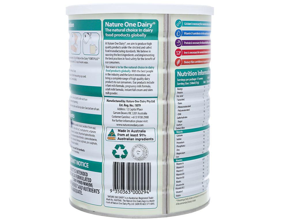 Sữa bột Nature One lon 900g (cho người lớn) 2