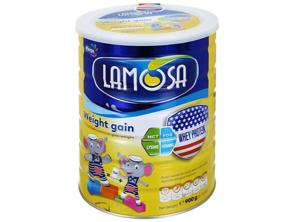 Sữa bột Lamosa Weight Gain lon 900g 1