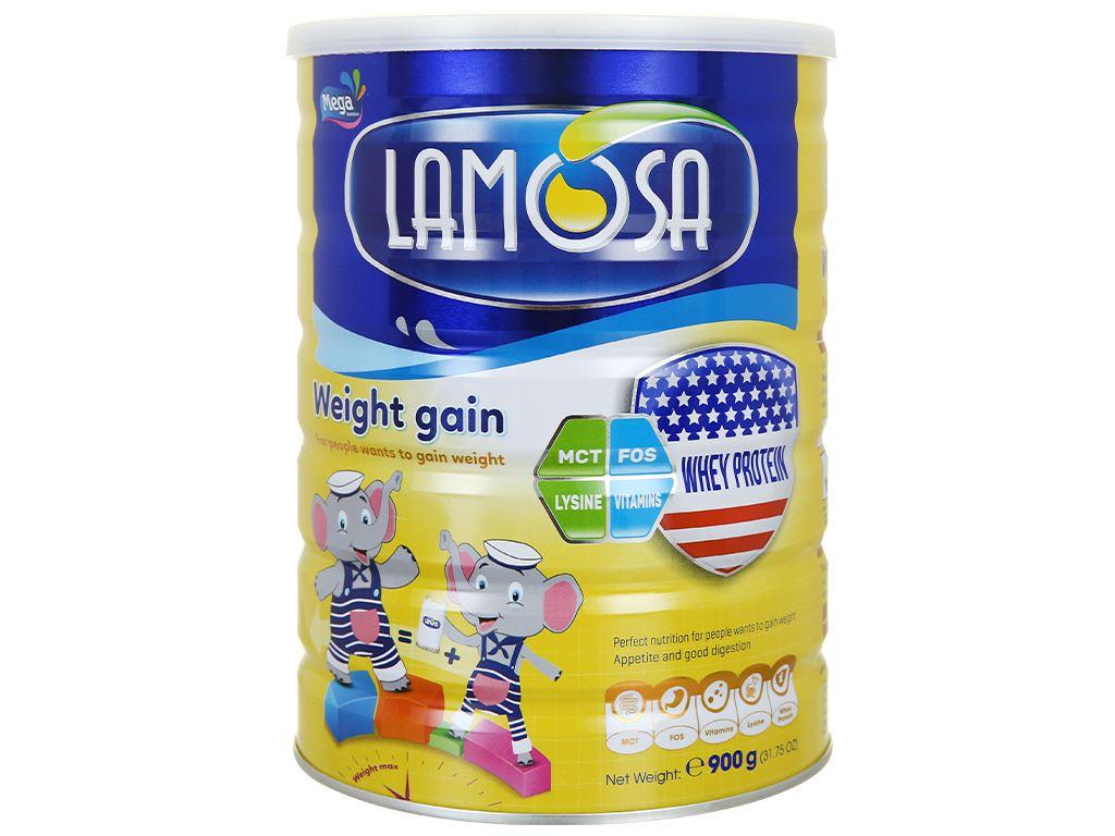 Sữa bột Lamosa Weight Gain lon 900g 2