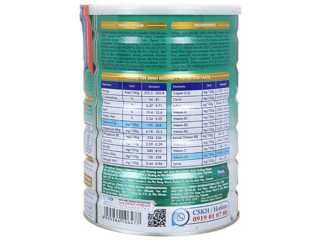 Sữa bột Lamosa Calci Gold lon 900g 3