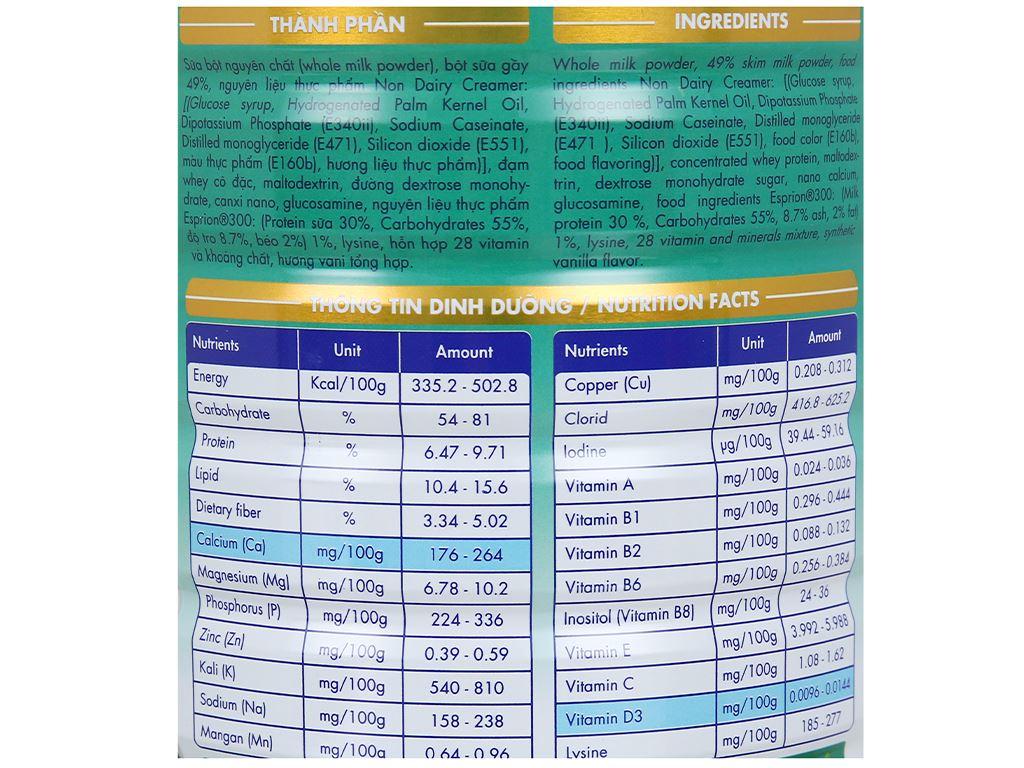 Sữa bột Lamosa Calci Gold lon 900g 5