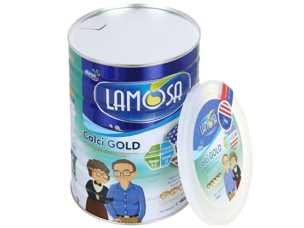 Sữa bột Lamosa Calci Gold lon 900g 6