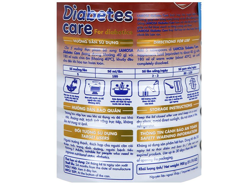 Sữa bột Lamosa Diabetes Care lon 900g 5