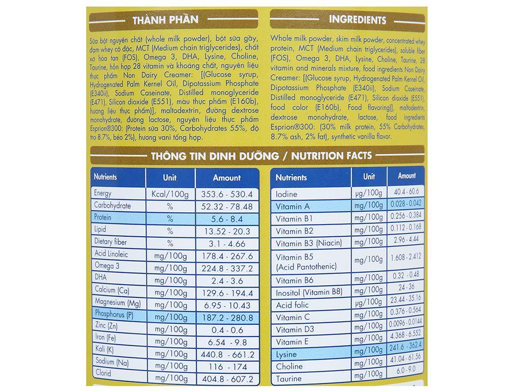 Sữa bột Lamosa Weight Gain lon 400g 5