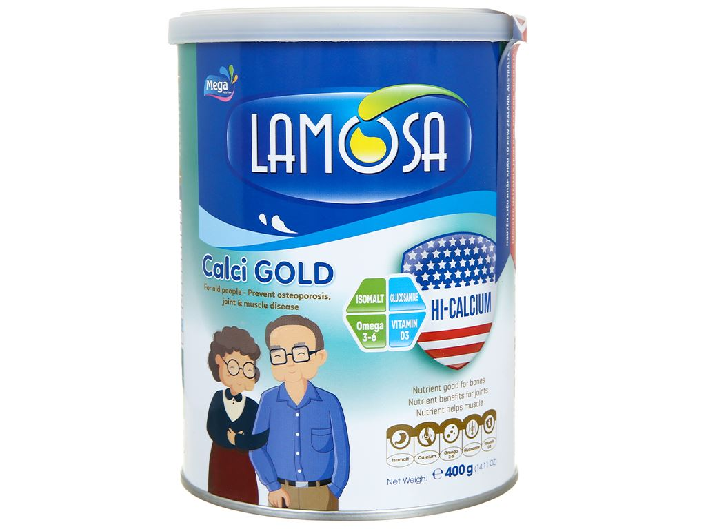 Sữa bột Lamosa Calci Gold lon 400g 2
