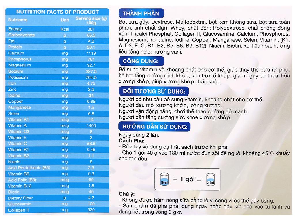 Sữa bột New Zealand Milk Bone hộp 400g (cho người lớn) 5