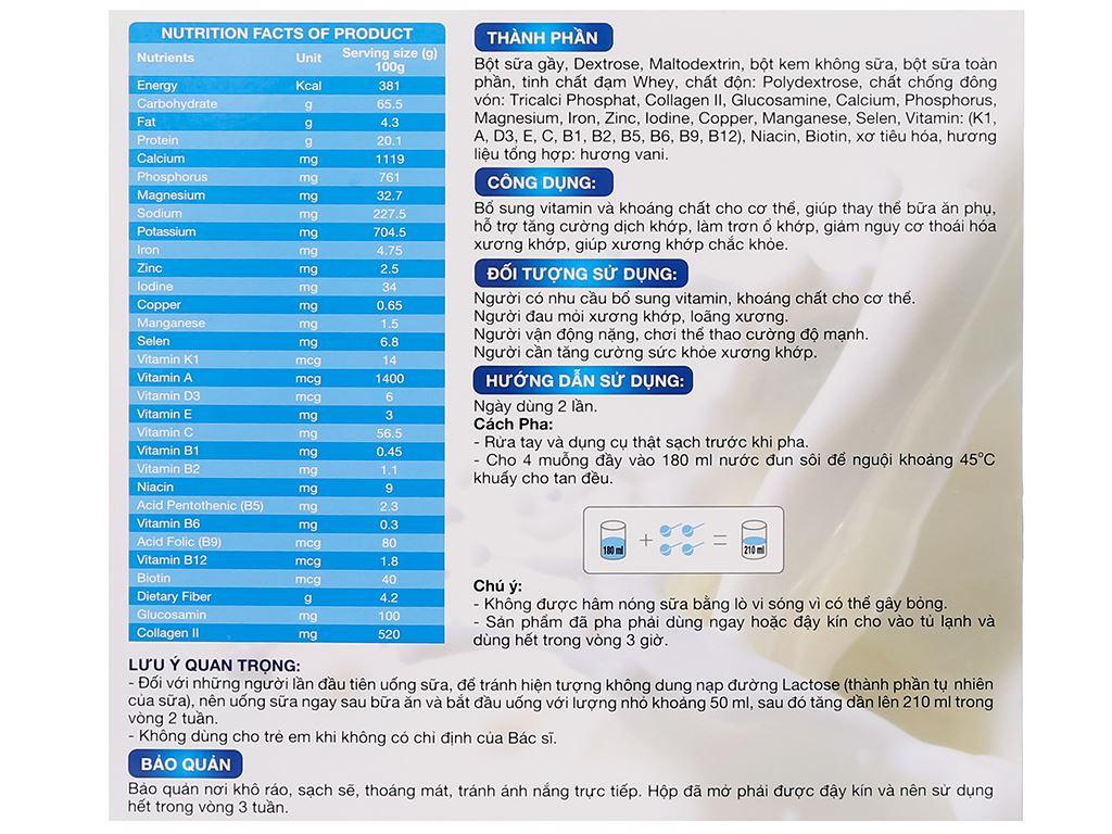 Sữa bột New Zealand Milk Bone hộp 450g (cho người lớn) 5