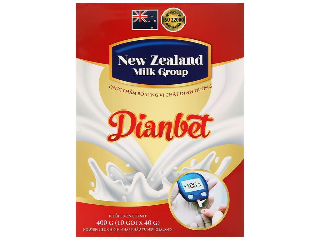 Sữa bột New Zealand Milk Dianbet hộp 400g (cho người lớn) 1