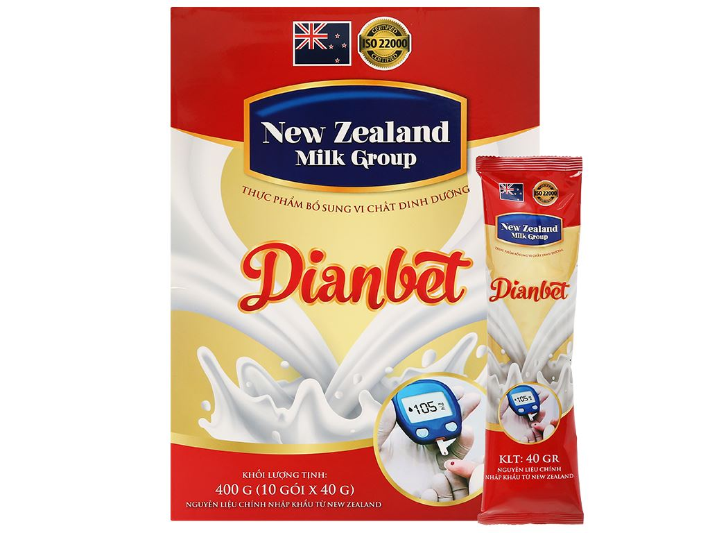 Sữa bột New Zealand Milk Dianbet hộp 400g (cho người lớn) 6