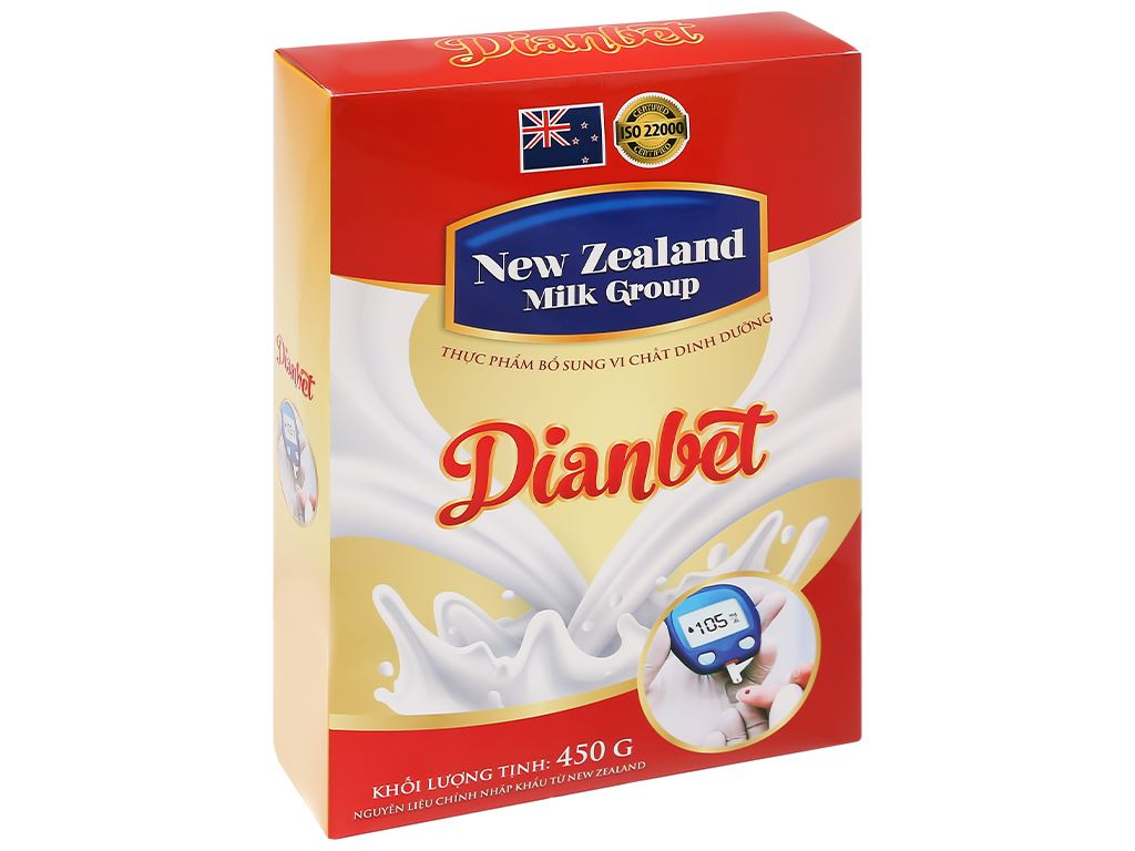 Sữa bột New Zealand Milk Dianbet hộp 450g (cho người lớn) 3