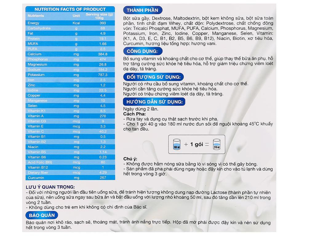 Sữa bột New Zealand Milk Gastro hộp 400g (cho người lớn) 5