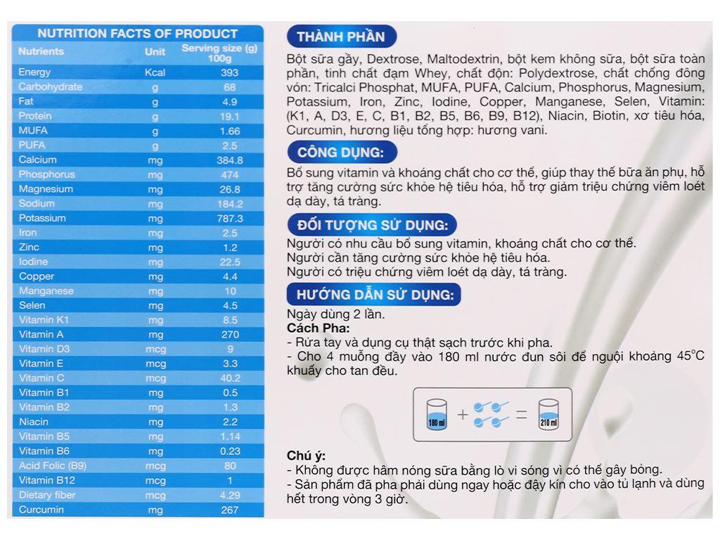 Sữa bột New Zealand Milk Gastro hộp 450g (cho người lớn) 5