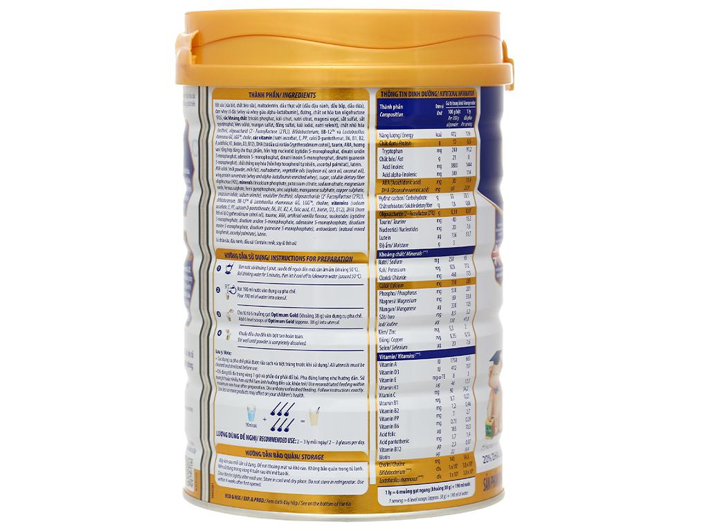 Sữa bột Optimum Gold 3 lon 850g (1 - 2 tuổi) 3