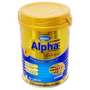 Sữa bột Dielac Alpha Gold 1 lon 400g (0 - 6 tháng)