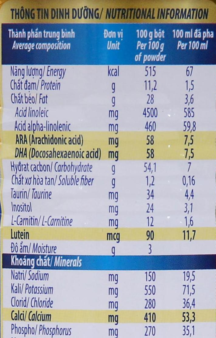 Sữa bột Dielac Alpha Gold 1 lon 400g (0 - 6 tháng) 7