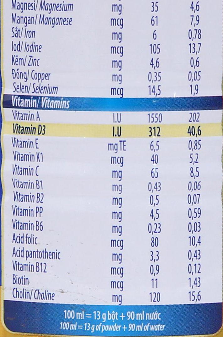 Sữa bột Dielac Alpha Gold 1 lon 400g (0 - 6 tháng) 8