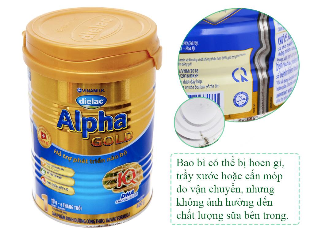 Sữa bột Dielac Alpha Gold 1 lon 400g (lỗi bao bì) 1