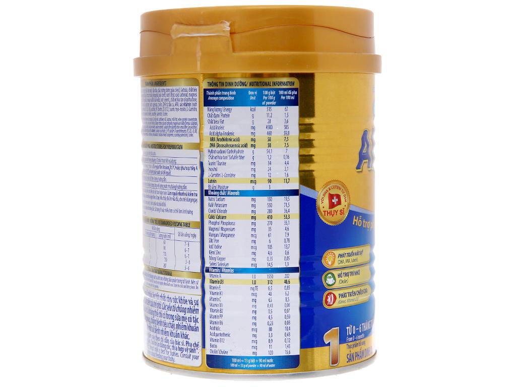 Sữa bột Dielac Alpha Gold 1 lon 400g (0 - 6 tháng) 4