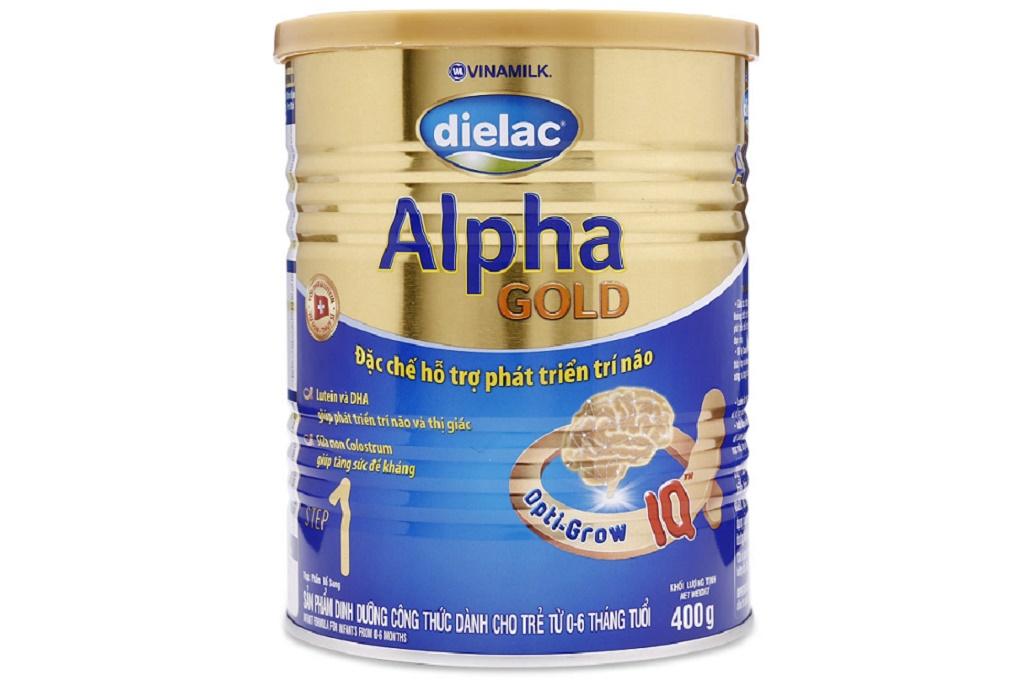Sữa bột Dielac Alpha Gold Step 1 400g (cho bé 0-6 tháng)