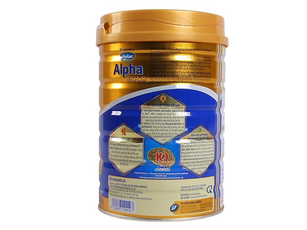 Sữa bột Dielac Alpha Gold 2 lon 400g (6 - 12 tháng) 2