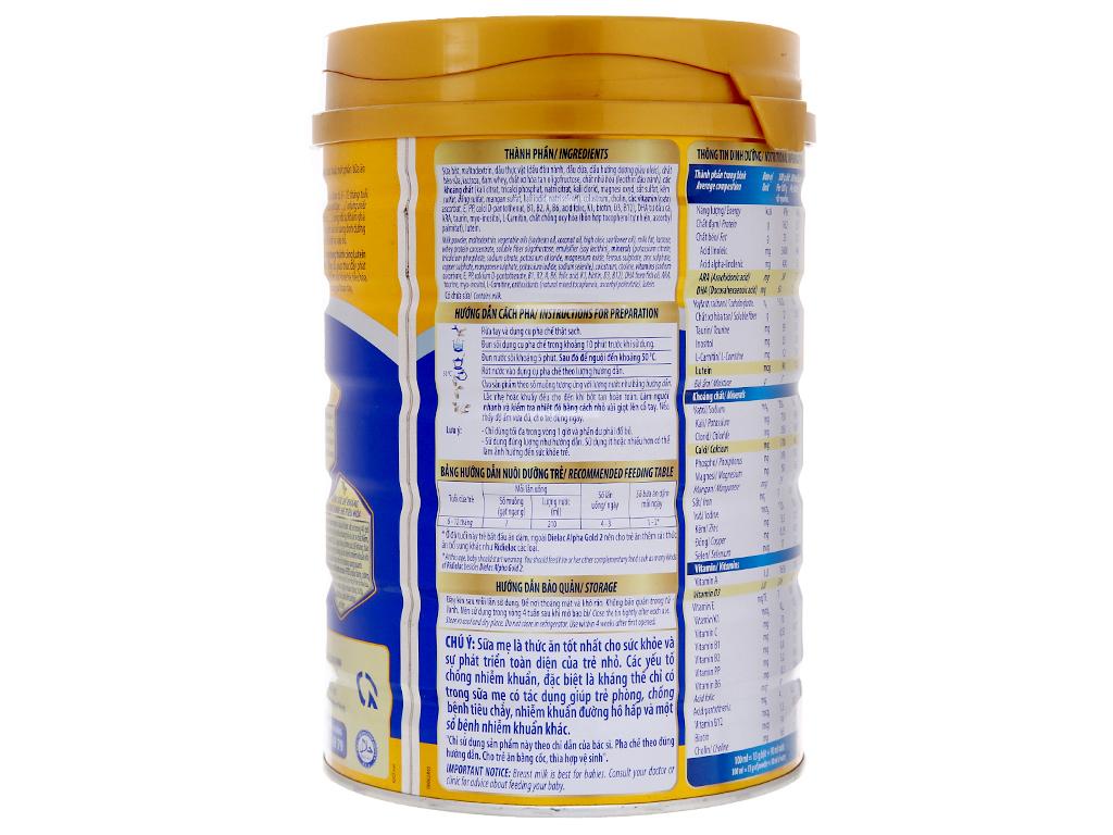 Sữa bột Dielac Alpha Gold 2 lon 900g (6 - 12 tháng) 3