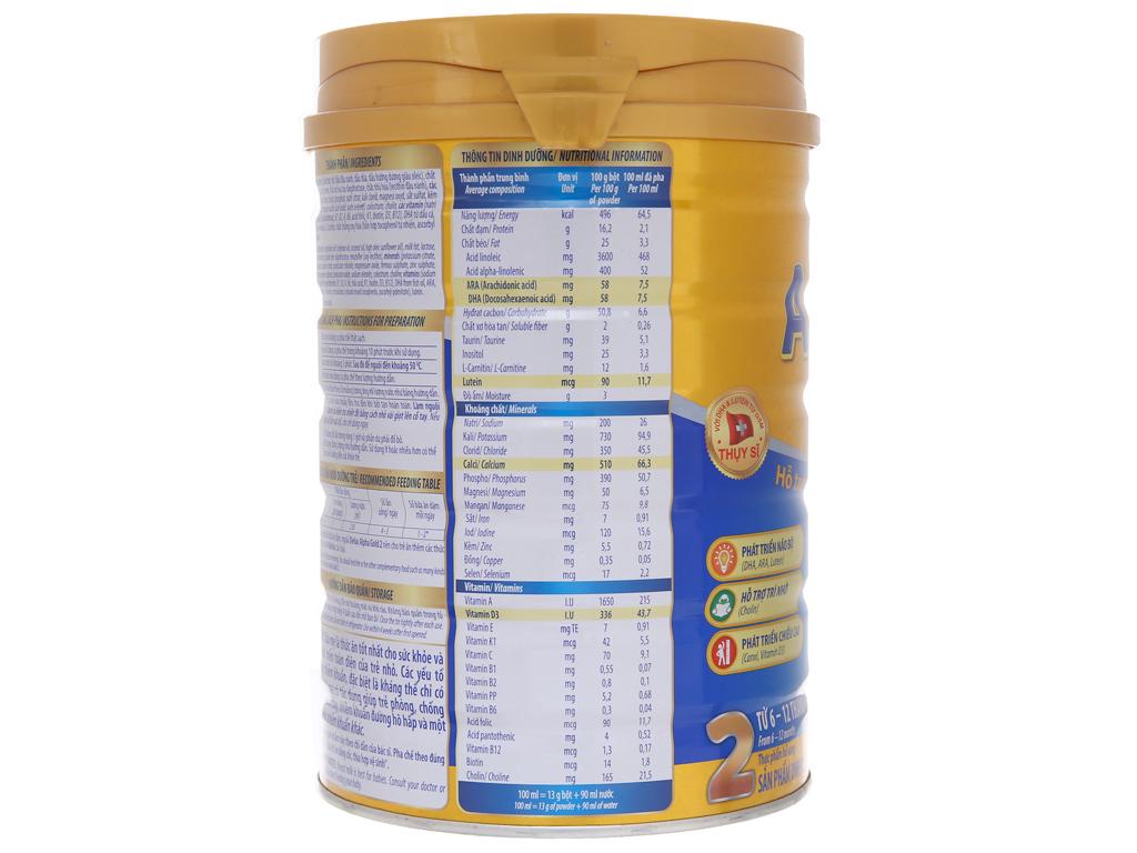 Sữa bột Dielac Alpha Gold 2 lon 900g (6 - 12 tháng) 4