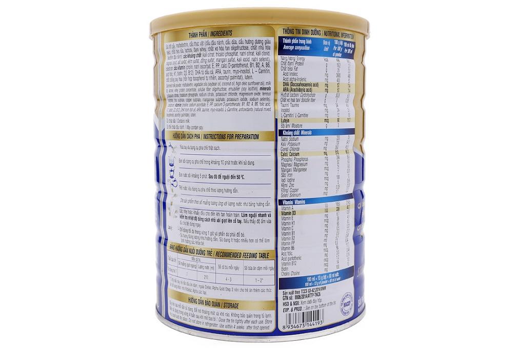 Sữa bột Dielac Alpha Gold Step 2 900g (cho bé 6-12 tháng)