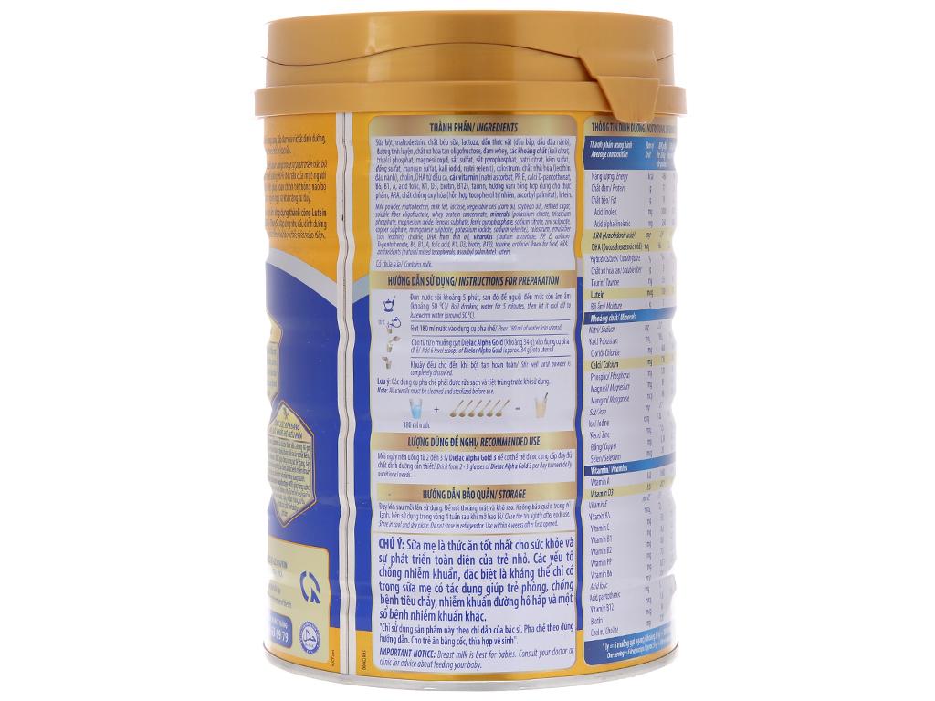 Sữa bột Dielac Alpha Gold 3 lon 900g (1 - 2 tuổi) 3