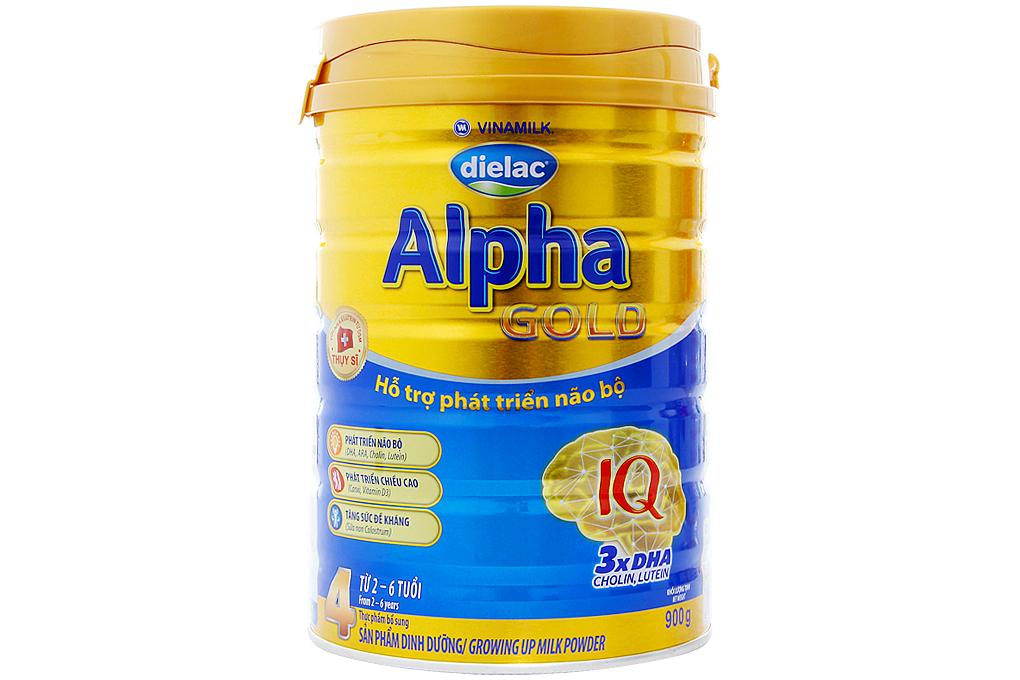 Sữa bột Dielac Alpha Gold Step 4 900g (cho bé 2-4 tuổi)