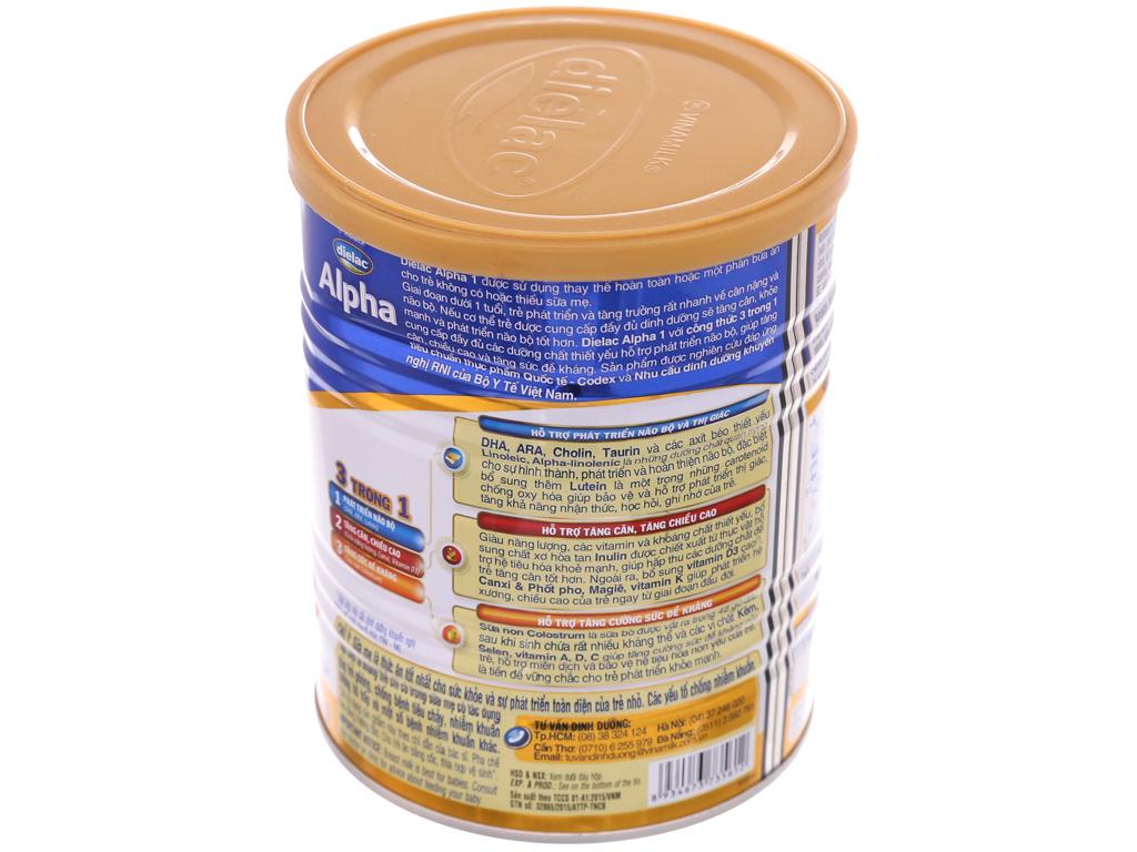 Sữa bột Dielac Alpha 1 lon 400g (0 - 6 tháng) 3