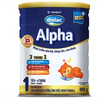 Sữa bột Dielac Alpha 1 400g (dưới 6 tháng)