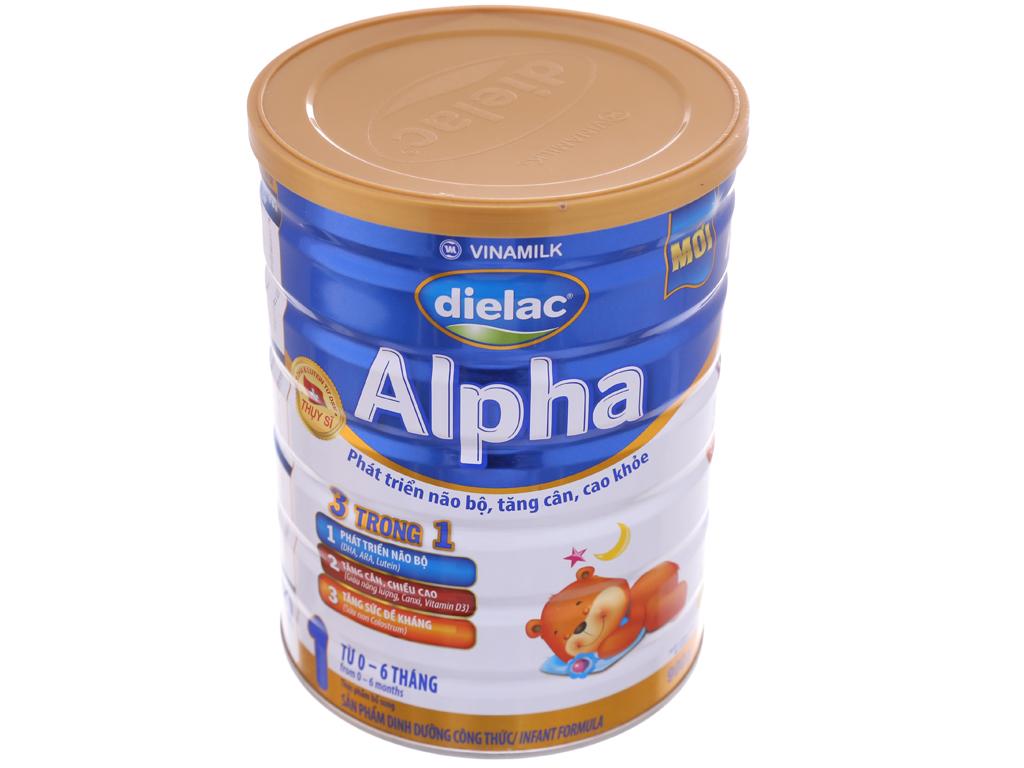 Sữa bột Dielac Alpha 1 lon 900g (0 - 6 tháng) 2