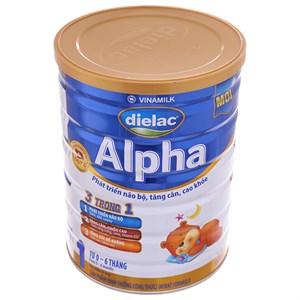 Sữa bột Dielac Alpha 1 lon 900g (0 - 6 tháng)