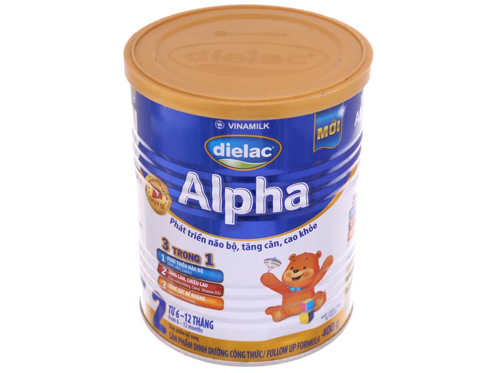 Sữa bột Dielac Alpha 2 lon 400g (6 - 12 tháng) 2