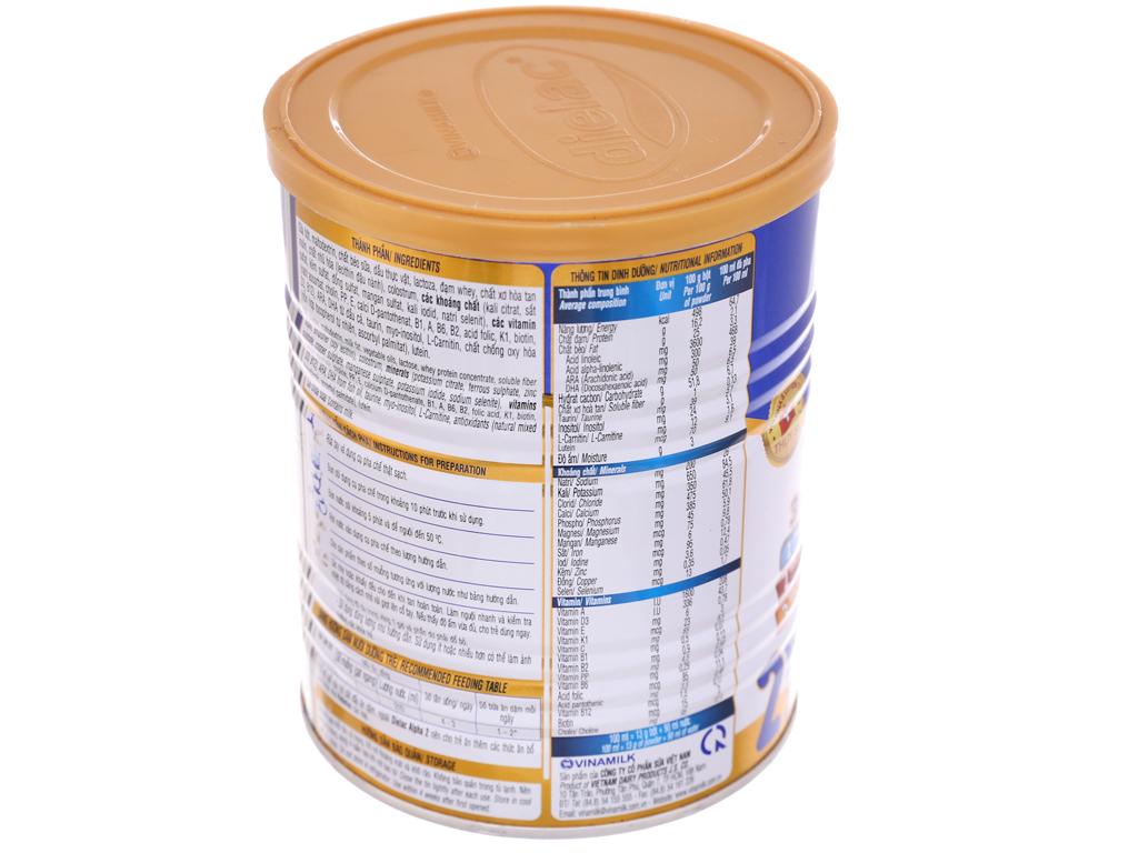 Sữa bột Dielac Alpha 2 lon 400g (6 - 12 tháng) 4
