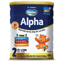 Sữa bột Dielac Alpha 2 400g (6 - 12 tháng)