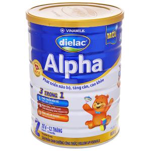 Sữa bột Dielac Alpha 2 lon 900g (lỗi bao bì)