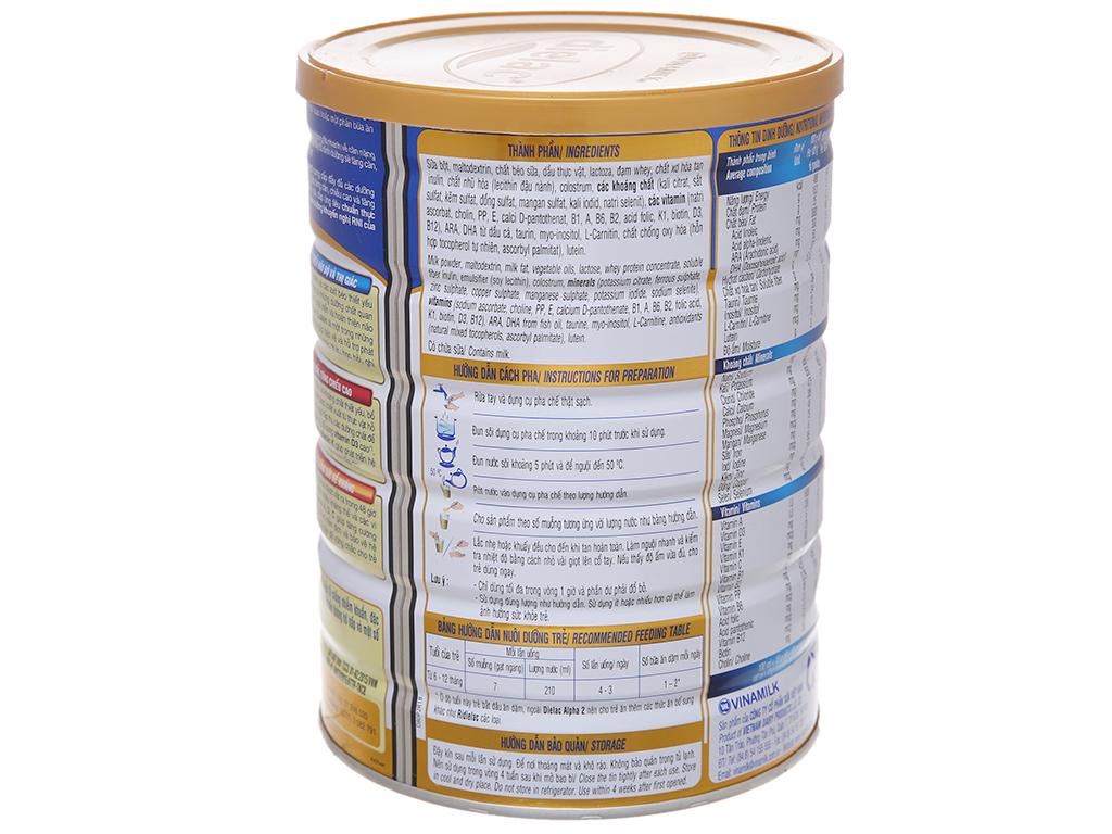 Sữa bột Dielac Alpha 2 lon 900g (6 - 12 tháng) 3