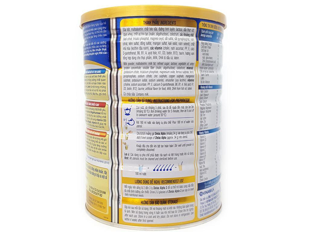 Sữa bột Dielac Alpha 3 lon 900g (1 - 2 tuổi) 4