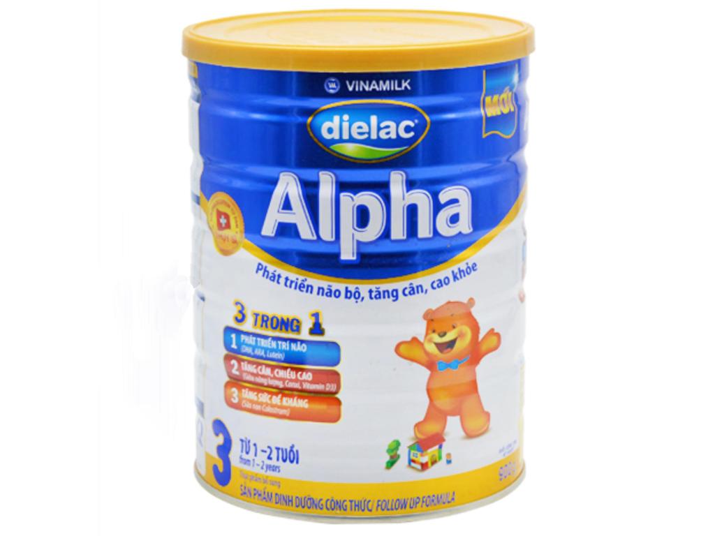 Sữa bột Dielac Alpha 3 lon 900g (1 - 2 tuổi) 1