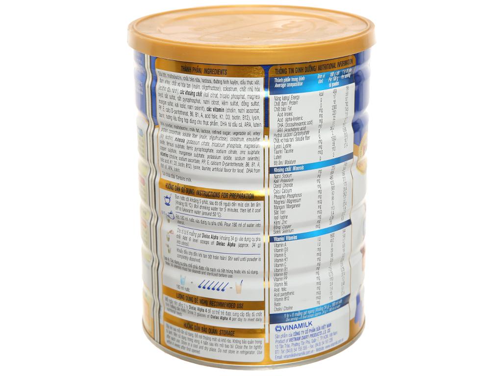 Sữa bột Dielac Alpha 4 lon 900g (2 - 6 tuổi) 3