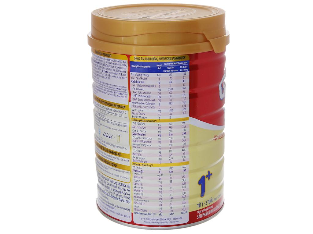 Sữa bột Dielac Grow Plus 1+ đỏ lon 900g (1 - 2 tuổi) 4