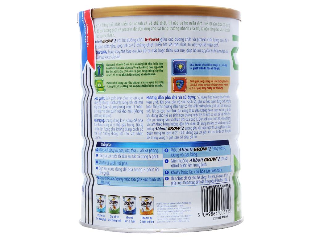 Sữa bột Abbott Grow 2 lon 900g (6 - 12 tháng) 3
