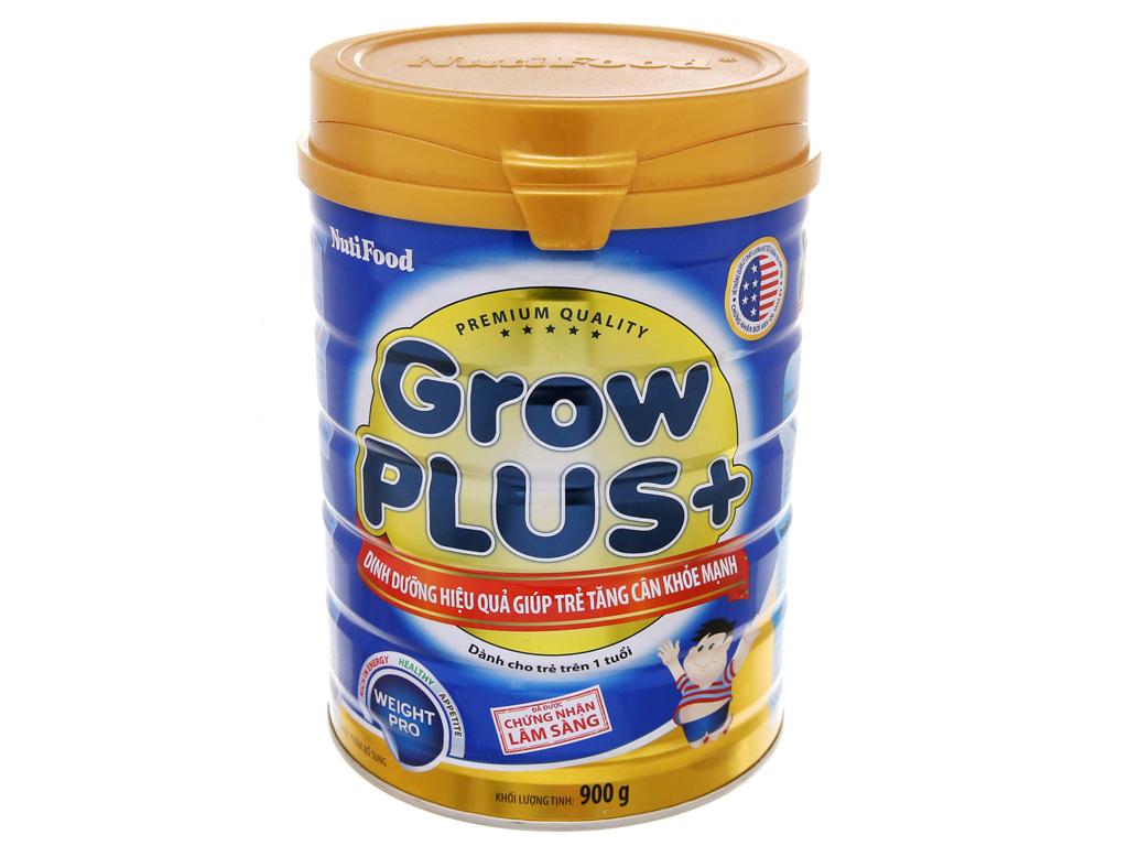 Sữa bột NutiFood Grow Plus+ tăng cân khoẻ mạnh lon 900g (trên 1 tuổi) 2