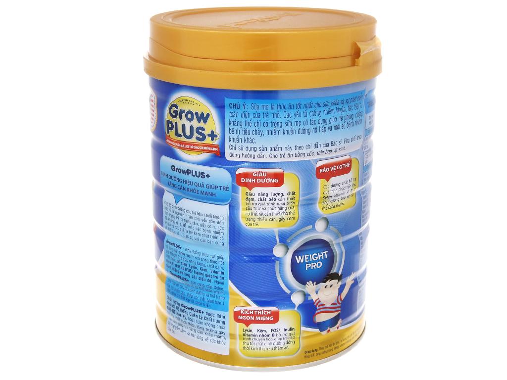 Sữa bột NutiFood Grow Plus+ tăng cân khoẻ mạnh lon 900g (trên 1 tuổi) 3