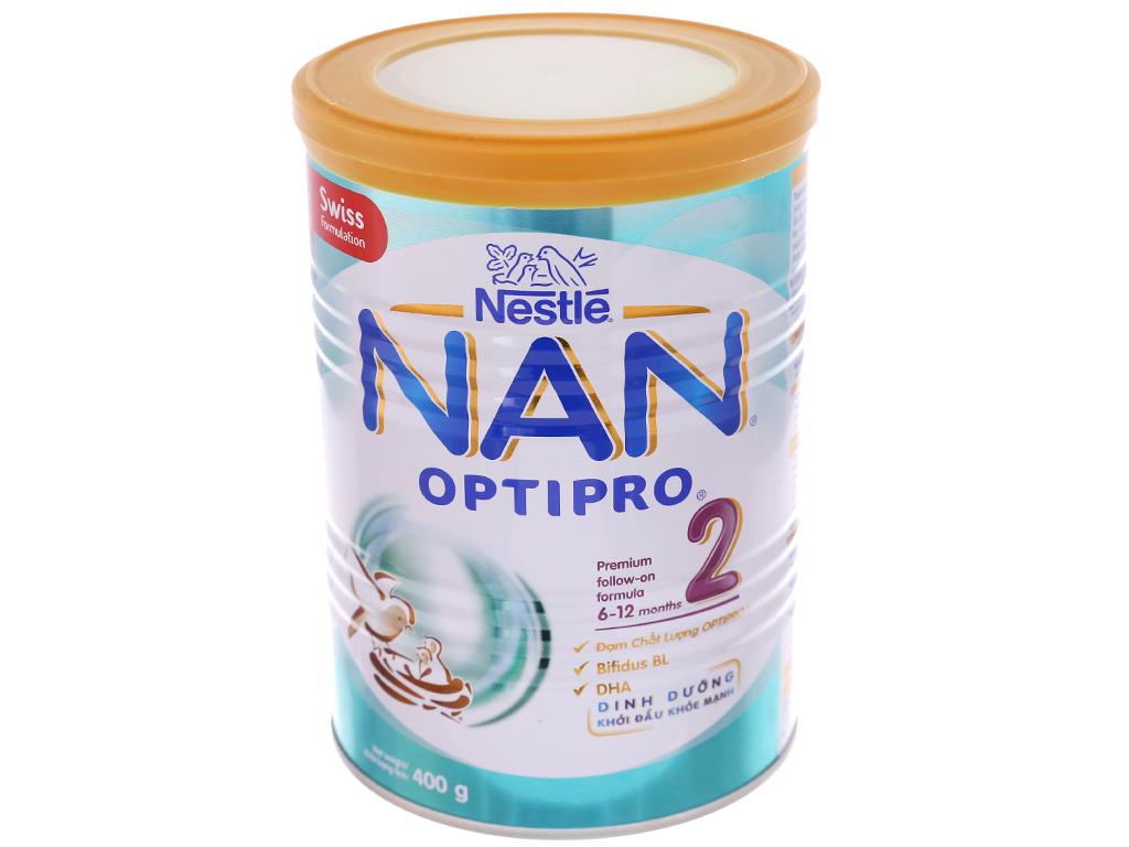 Sữa bột Nestlé NAN Optipro 2 lon 400g (6 - 12 tháng) 2